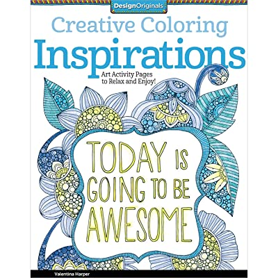 Design Originals 5507 Inspirations Creative Coloring Adult Color Book Art Draw: Home & Kitchen