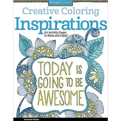 Design Originals 5507 Inspirations Creative Coloring Adult Color Book Art Draw: Home & Kitchen
