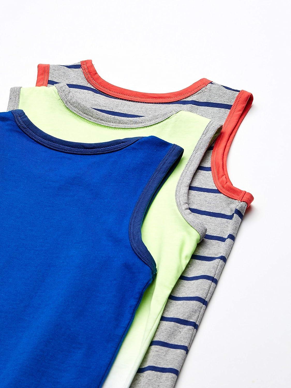 Spotted Zebra Boys Toddler /& Kids 3-Pack Sleeveless Tank Tops Brand