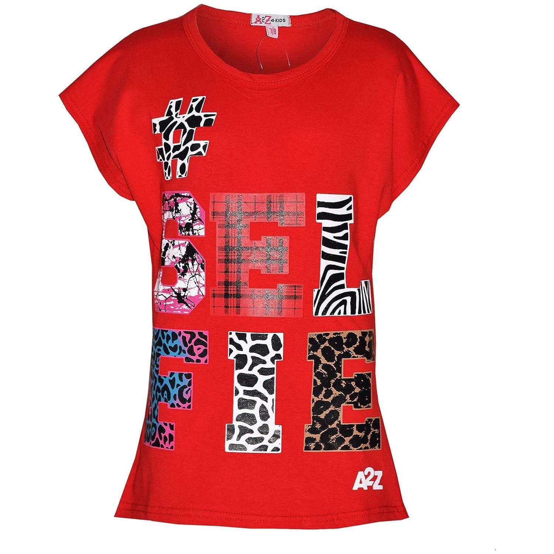 A2Z 4 Kids/® Girls Top Kids Selfie Print Trendy T Shirt Top /& Fashion Legging Set Age 7 8 9 10 11 12 13 Years