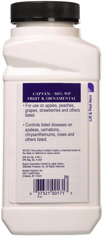 Amazon.com : Bonide Chemical 8-Ounce Captan Fruit and Ornamental, 50% WP : Fungicide
