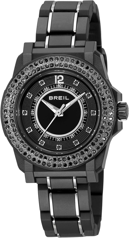 Breil TW0986 - Reloj analógico de Cuarzo para Mujer, Correa de Poliuretano Color Negro