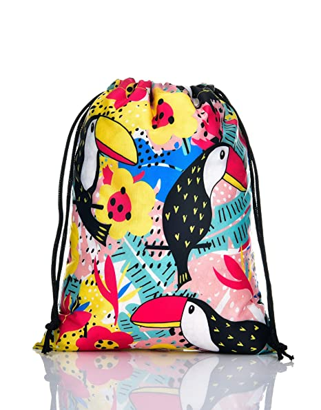 84bc09830177 LIHI BAG 10 Pack Kids Party Favors Drawstring Birthday Goody Gift Pouch,  Toucan