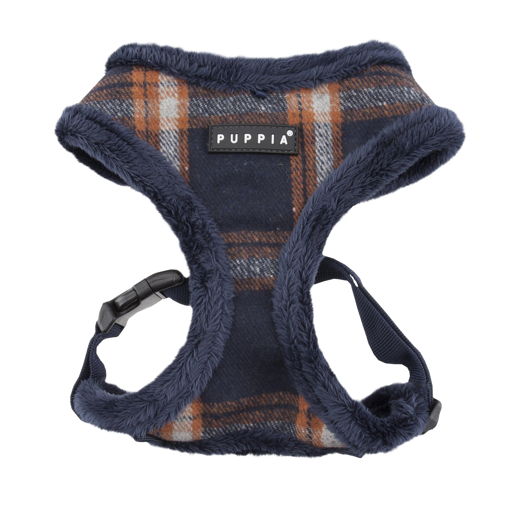 Puppia Kemp Harness-A for Pets, Navy, Large