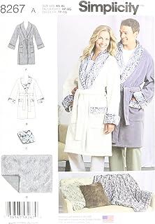 Xl M S Blanc L Simplicity 8267 Une Femme Homme Et Ado De