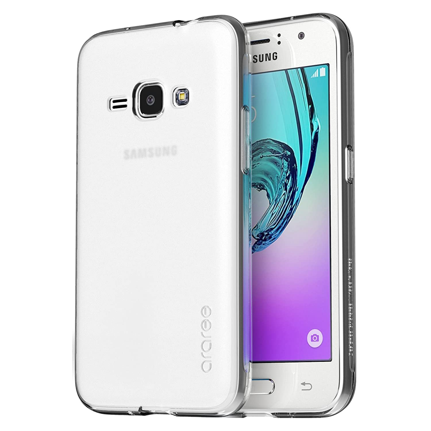 Samsung Galaxy J3 2016 J320 Case Araree J Cover For Clear Gratis Tempered Glass Ultrathin Soft Ultra Slim Thin Frosted Tpu Skin 50 Inch Smasung Eco Package