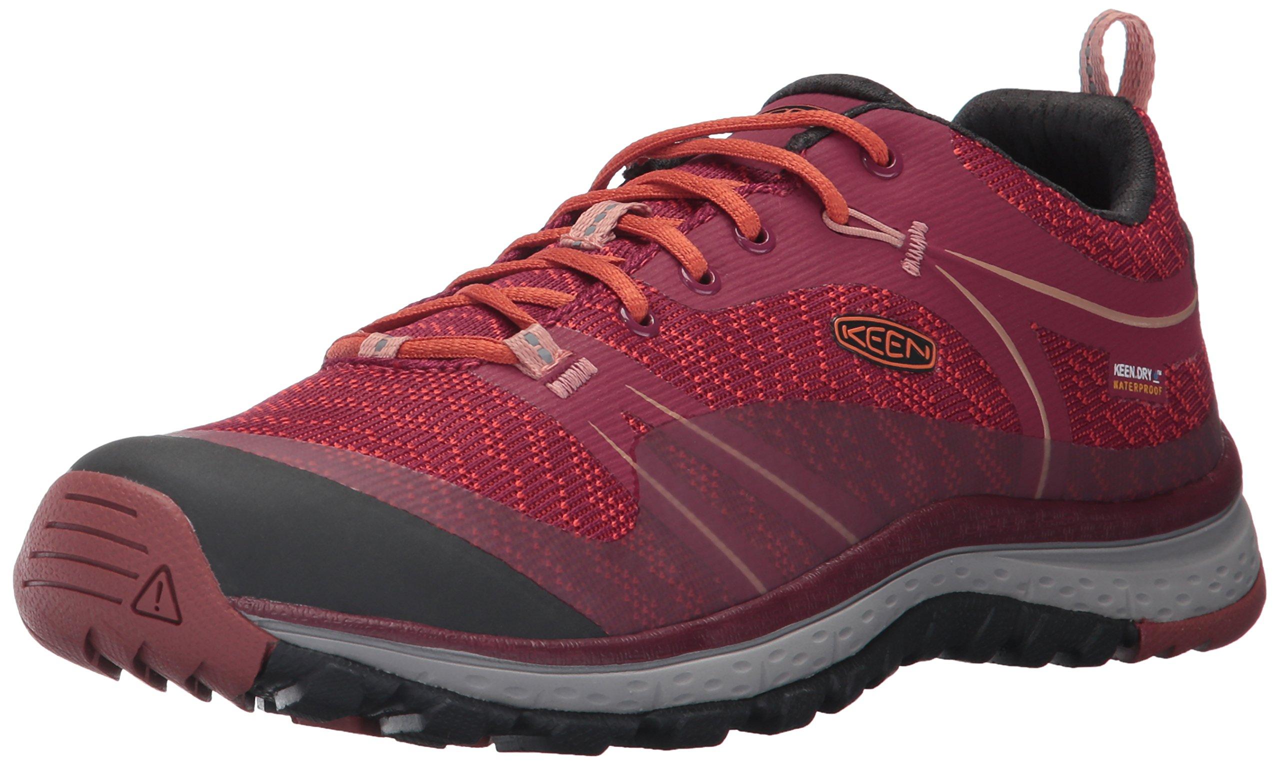 KEEN Women's Terradora Wp-w Trail Runner,Rhododendron/Marsala,11 M US