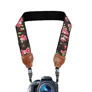 USA Gear Correa para Cámara de Fotos de Neopreno. para Camaras Reflex, Evil y Compactas. Compatible con Canon, Nikon, Sony, Olympus, Pentax, Fujifilm, ...