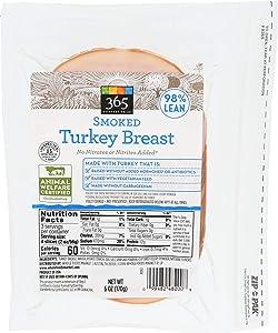 365 Everyday Value, Smoked Turkey Breast Deli Slices, 98% Lean, 6 oz