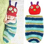 Baby Kids Rainbow Caterpillar Wearable Blanket Sleeping Bag Romper Newborn Photography Props Sleepwear Swaddle Wrap Sack