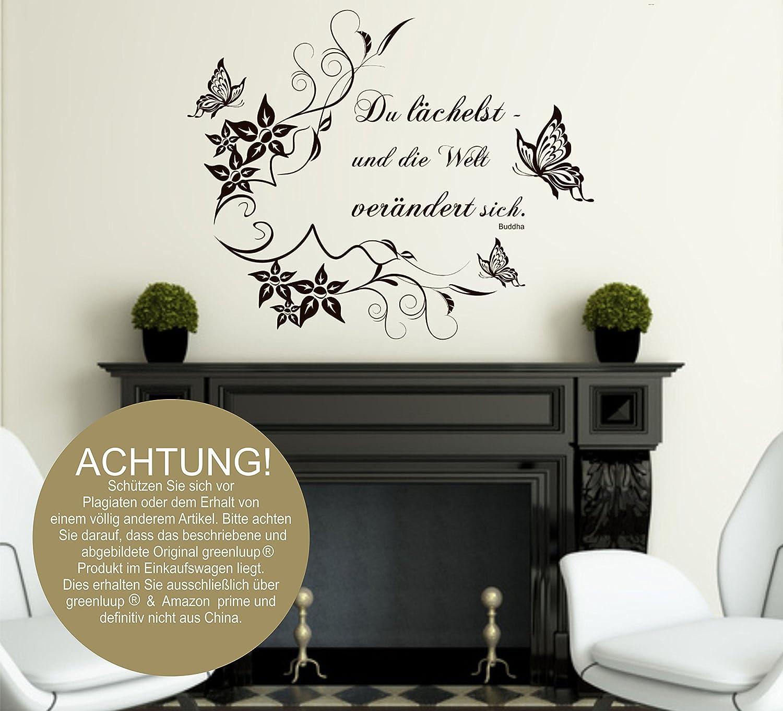 Blickfang Wandtattoos Sprüche Dekoration Von Greenluup® Wandtattoo In Schwarz Zitat Buddha Du