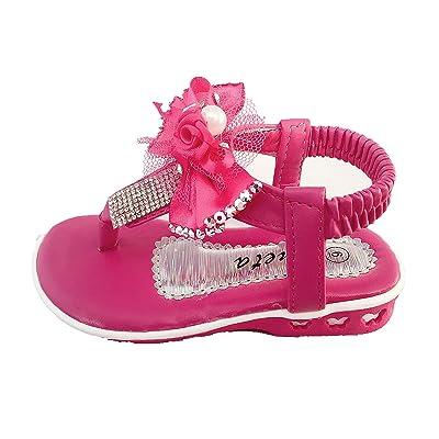 4da65cbab3d7 Ameta QQ-35I Girl s Infant Toddler Bow Velcro Synthetic Cute Dress Sandals  Shoes (7