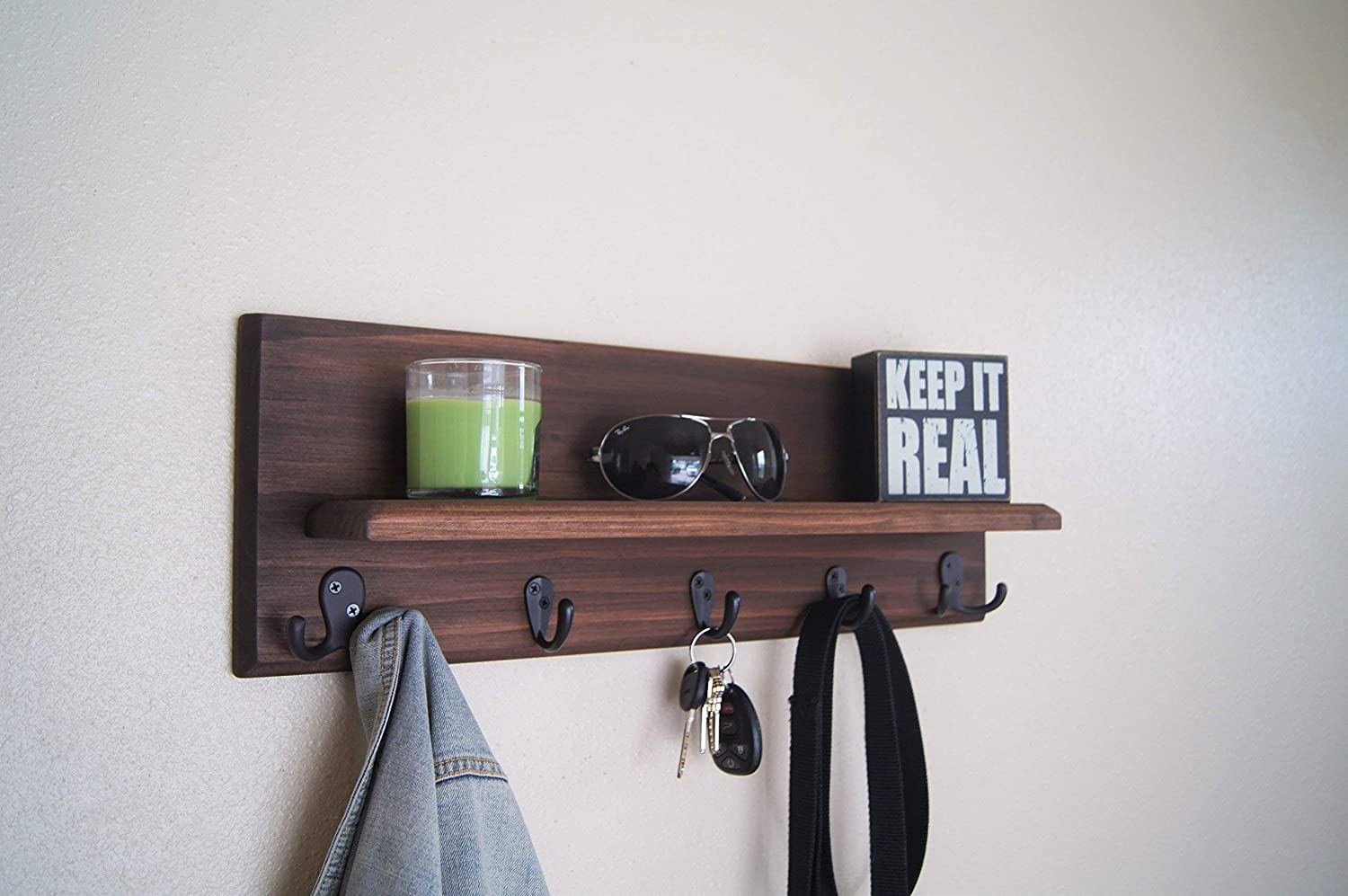 Floating Shelf Coat Rack