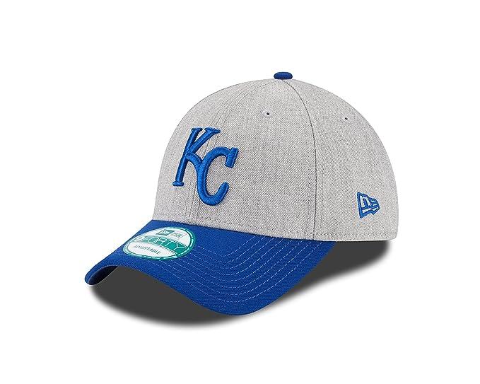 f8466bcd47d03f Amazon.com : New Era MLB Kansas City Royals The League Heather 9FORTY  Adjustable Cap, One Size, Gray : Clothing
