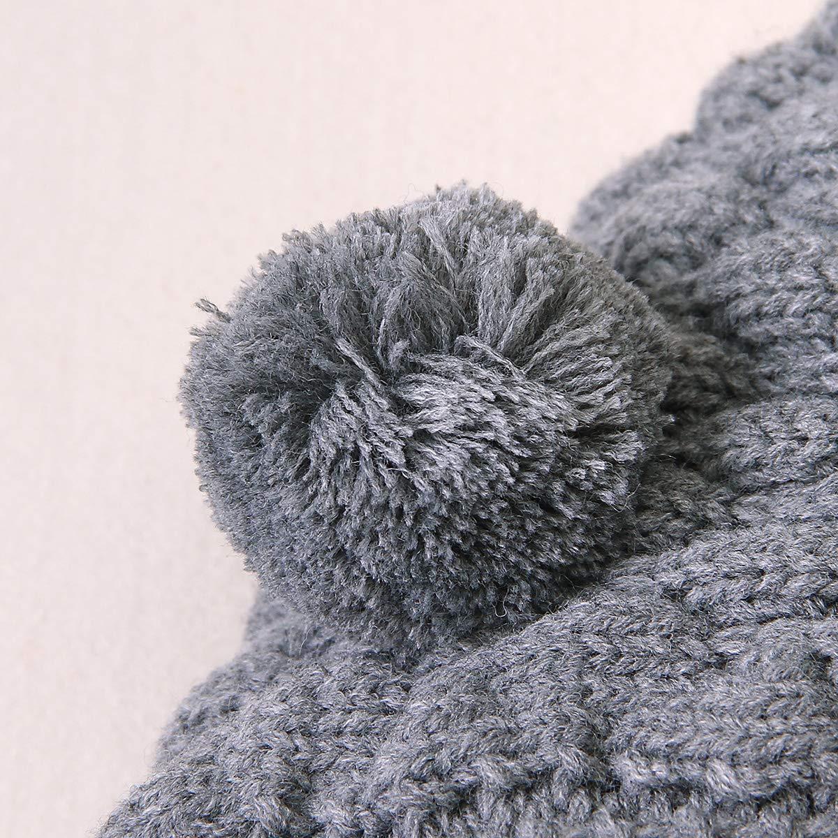 Haokaini Mono de Mameluco de Punto con Capucha de Oreja de beb/é reci/én Nacido Mono para ni/ños ni/ñas