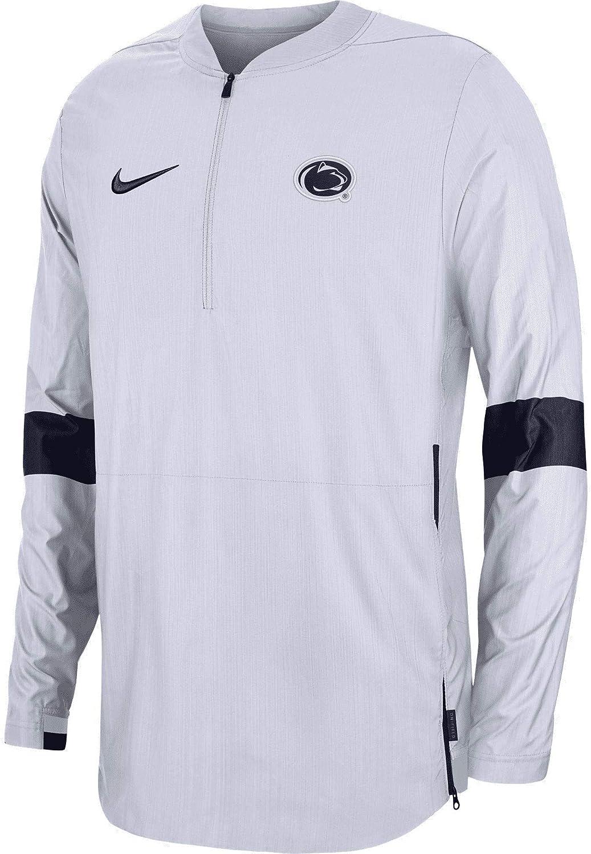 Nike Mens White Penn State Nittany Lions Coaches Sideline Quarter-Zip Jacket