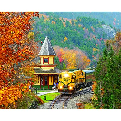 White Mountain Puzzles Scenic Railroad-1000 Piece Puzzle: Toys & Games