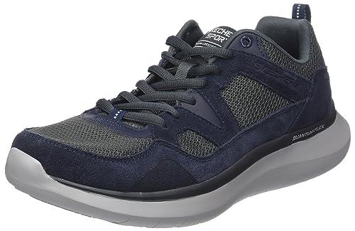 Skechers Quantum-Flex-Country Walker, Sneaker Uomo, Grigio (Charcoal/Black), 41 EU