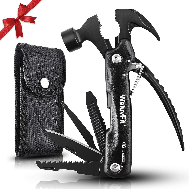 Outdoor Multitool Hammer Pliers+Flashlight+Carabiner Survival Tool Camping Hikin