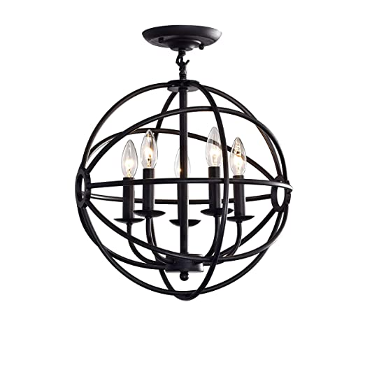 Amazon.com: jojospring Benita Antique 5-Light ORB Flush ...
