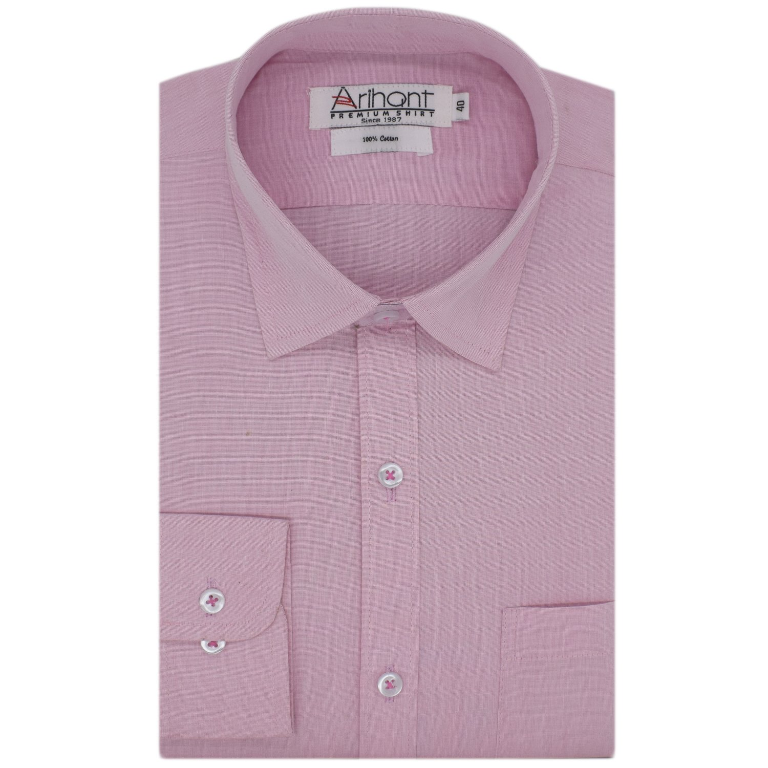 ea1366f0 Arihant Men's Cotton Full Sleeves Shirt: Amazon.in: Clothing & Accessories
