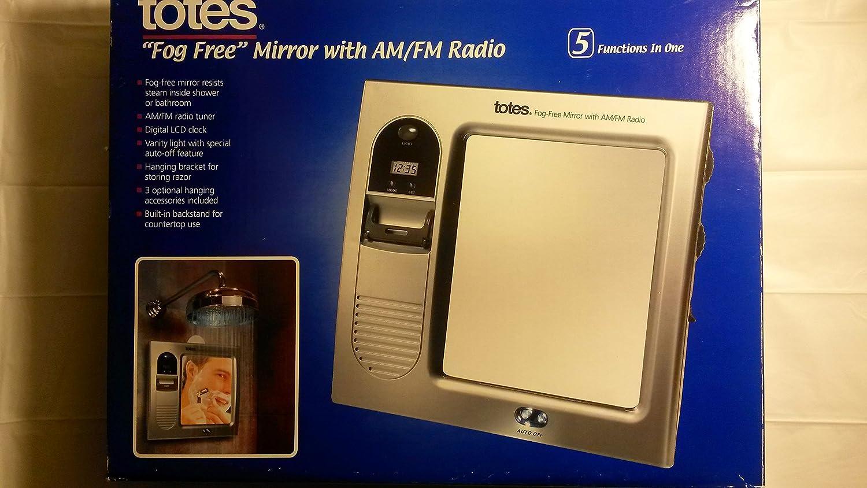 Amazon Totes Fog Free Mirror With AM FM Radio Home Audio Theater