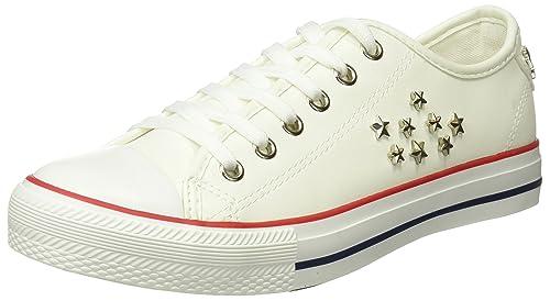Springfield 1.Frq.Sneaker Puntera Goma y tachas, Zapatillas para Mujer, Blanco (White), 41 EU: Amazon.es: Zapatos y complementos