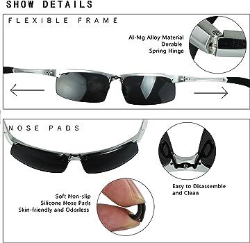 75a526cce7 DUCO Occhiali da sole polarizzati uomo Occhiali sportivi Occhiali per la  guida telaio in metallo 8177S