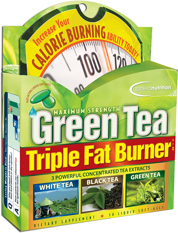 Applied Nutrition Green Tea Triple Fat Burner, 30 Liquid Soft-Gels Pack of 4