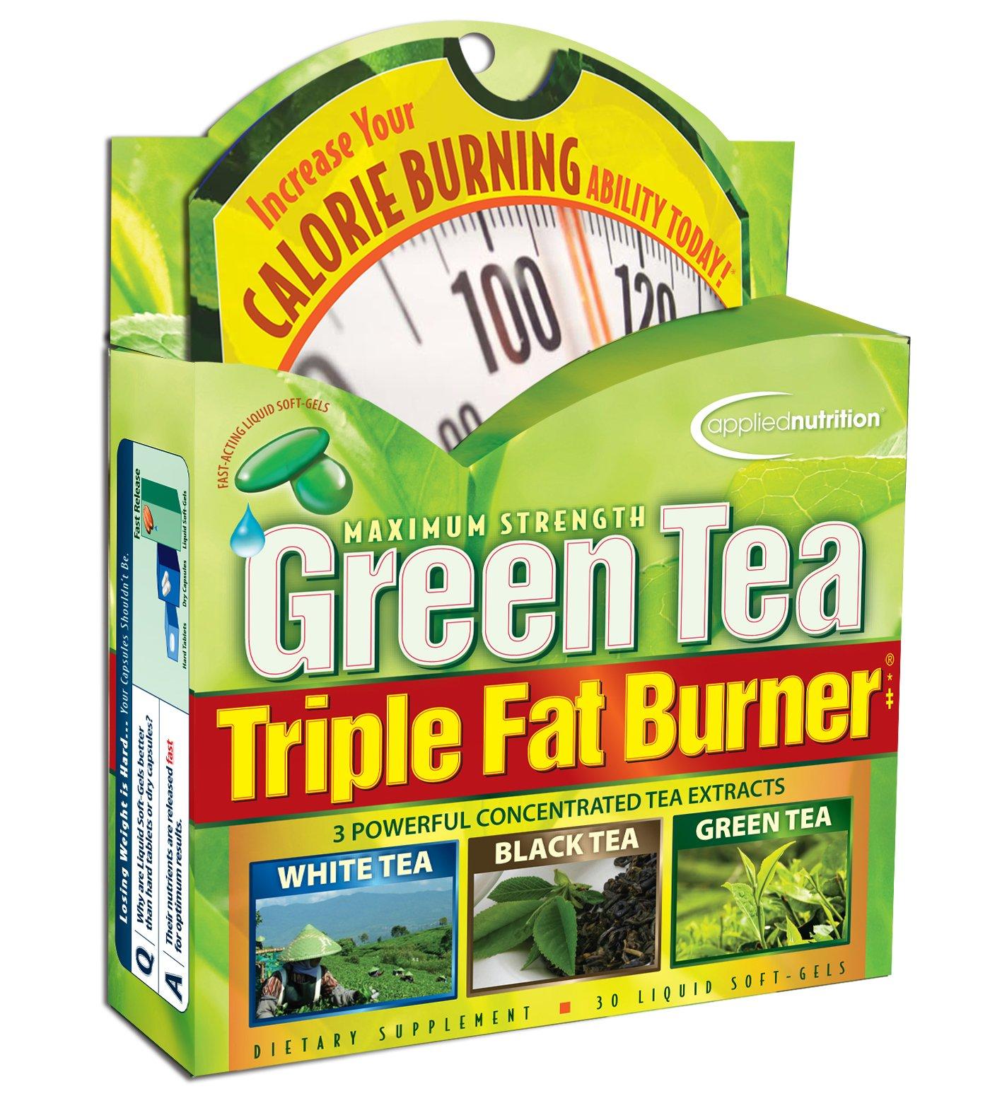 Applied Nutrition Green Tea Triple Fat Burner, 30 Liquid Soft-Gels (Pack of 3) by Applied Nutrition