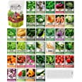 Survival Vegetable Seeds Garden Kit Over 16,000 Seeds Non-GMO and Heirloom, Great for Emergency Bugout Survival Gear 35 Varie