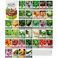 Survival Vegetable Seeds Garden Kit Over 16,000 Seeds Non-GMO and Heirloom, Great for Emergency Bugout Survival Gear 35…