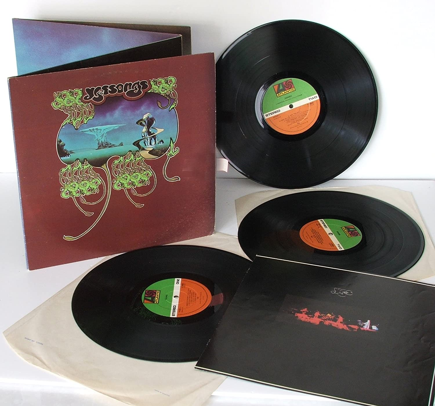 YES, Yes songs Four fold triple album with concert book  1973 First UK  pressing  Atlantic