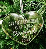 Our First Christmas - Personalized Cystal Ornament