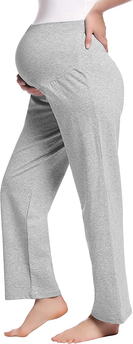 Amorbella Womens Maternity//Pregnancy Sweat Pants Over The Belly Bottoms