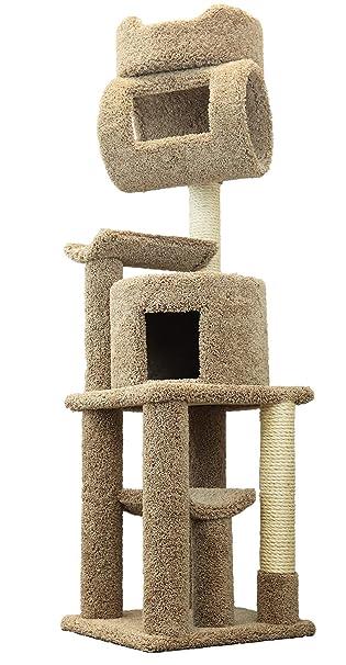 Amazon.com: Nueva Torre Cat Condos café Grande Gato Árbol ...