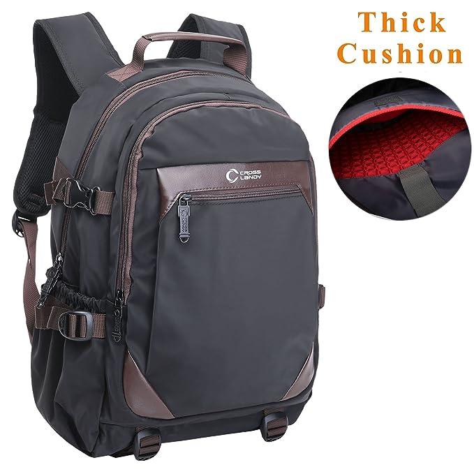 crosslandy Mens Casual mochila para la universidad Escuela Mochila para ordenador portátil de 15,6 (impermeable viaje mochilas: Amazon.es: Ropa y accesorios