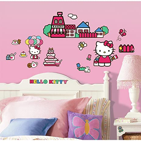 Charmant ROOMMATES RMK1678SCS Hello Kitty The World Of Hello Kitty Peel And Stick Wall  Decals