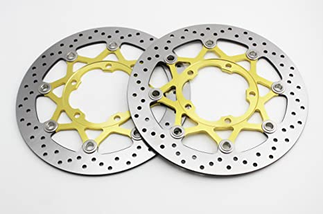 /Front Vented Disc Brake Rotor/ For SUZUKI GSXR600 Gold Roundness ADMOTO