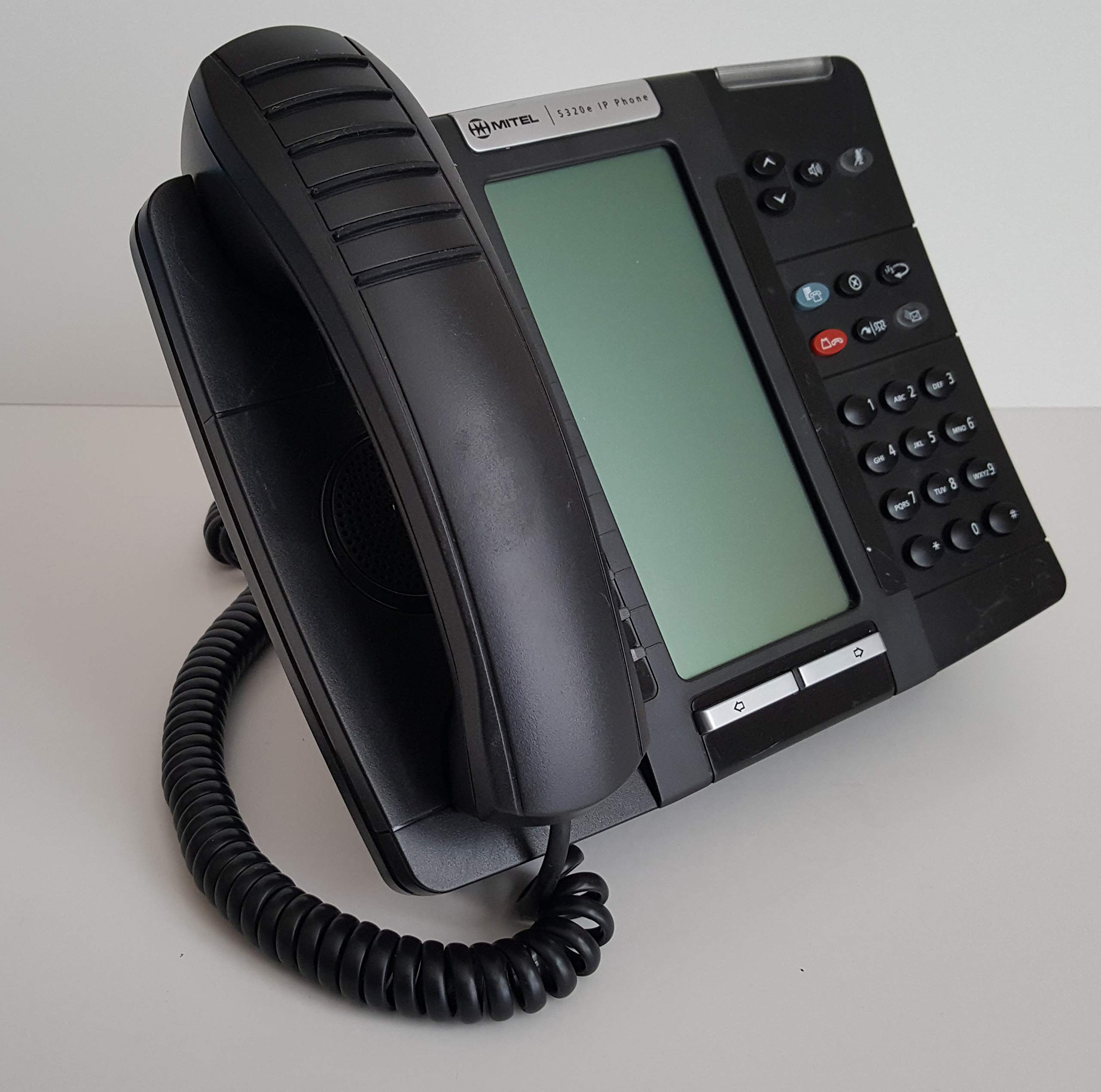 Mitel 5320e IP Display Phones 50006474 - Large Graphics Display - with Handset Cord & Base (Renewed) by Mitel 5320e