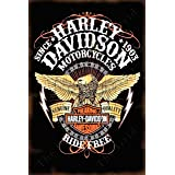 The Grid Vintage Tin Signs Compliments to Any Harley Davidson Motorcycles Ride Free Garage Decor Pin Up Garage Sign Garage De