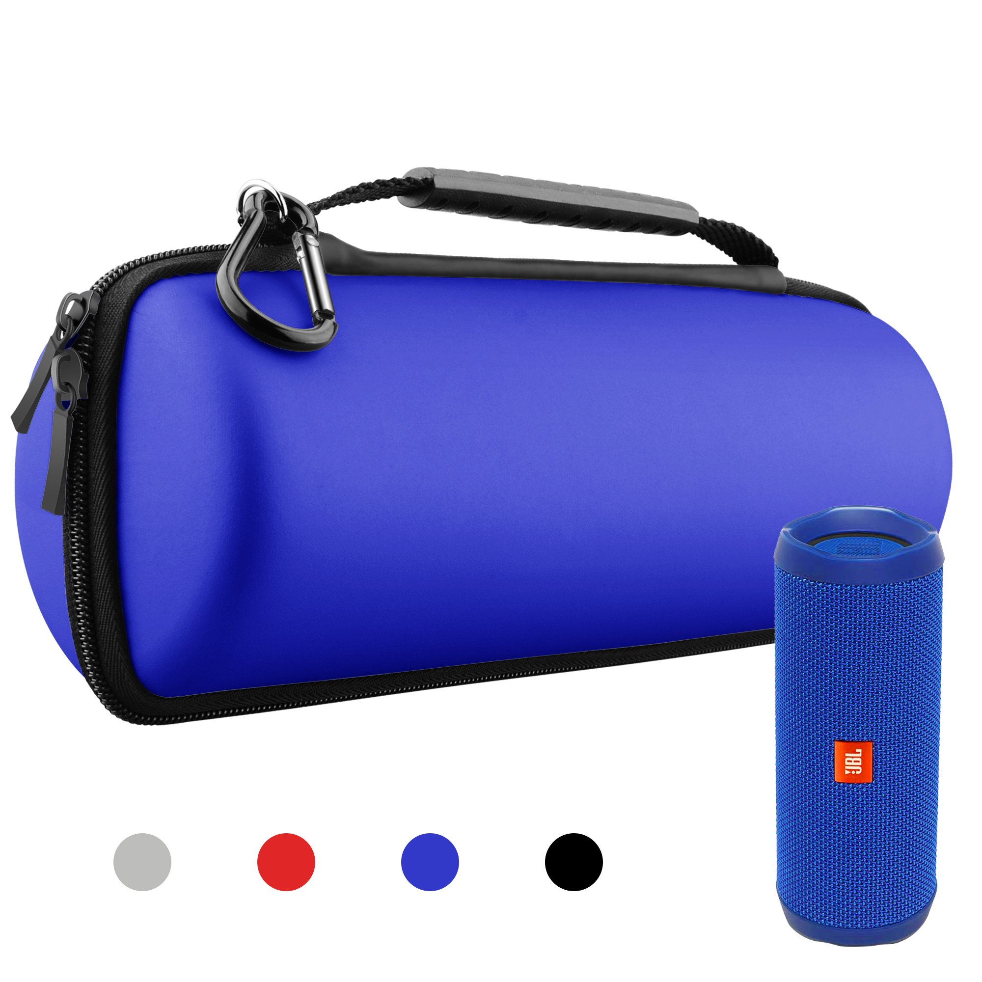 Hanlesi Case for JBL Flip 4 and Flip 3, Waterproof Carrying Accessories Case Wireless Bluetooth Speaker Travel Bag for Flip4/Flip3 Case Royal Blue