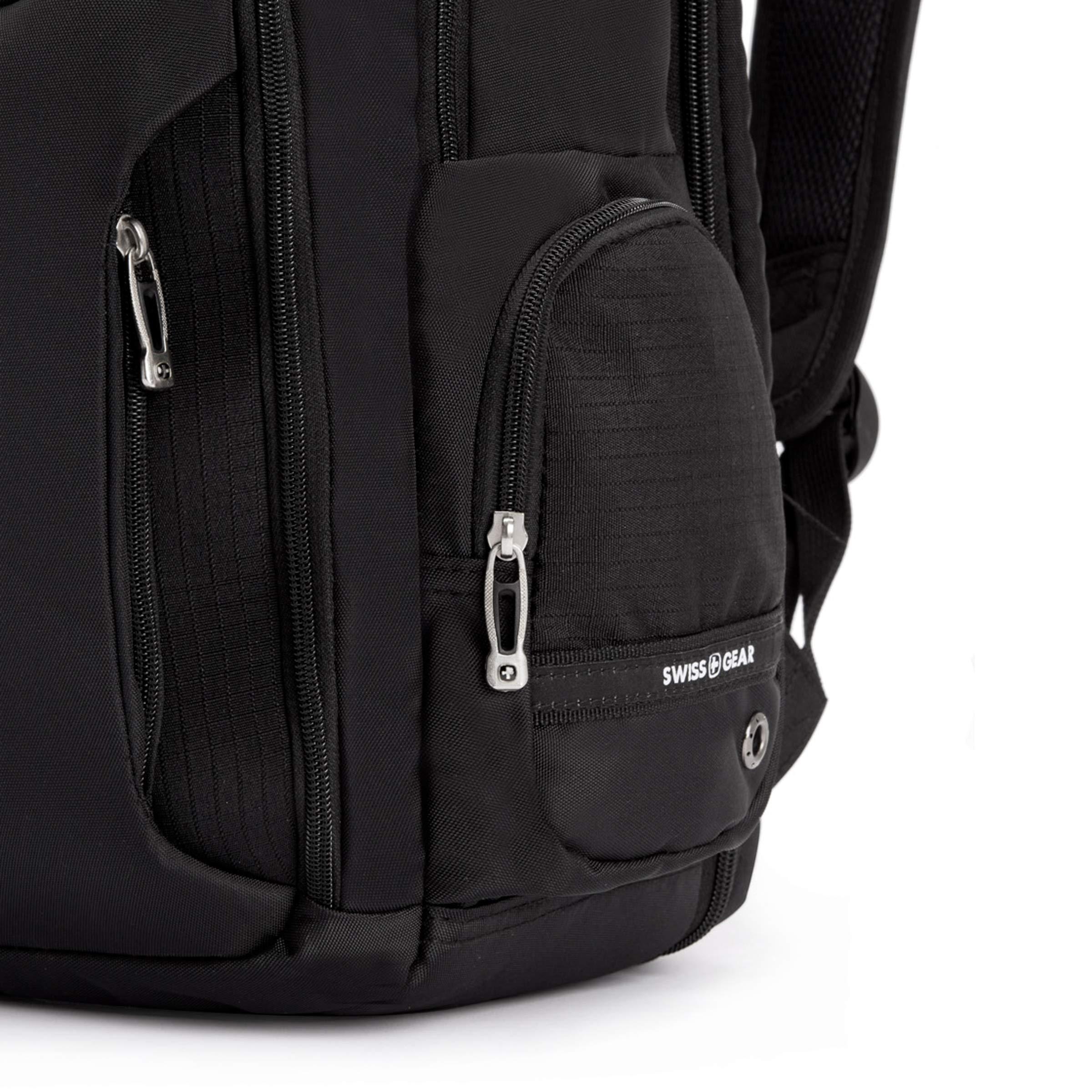 SWISSGEAR Large ScanSmart 15-inch Laptop Backpack   TSA-Friendly Carry-on   Travel, Work, School   Men's and Women's - Black by SwissGear (Image #9)