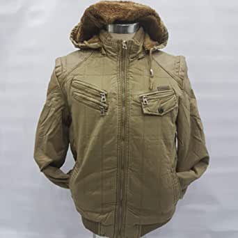 Jacket men Sport linen with leather