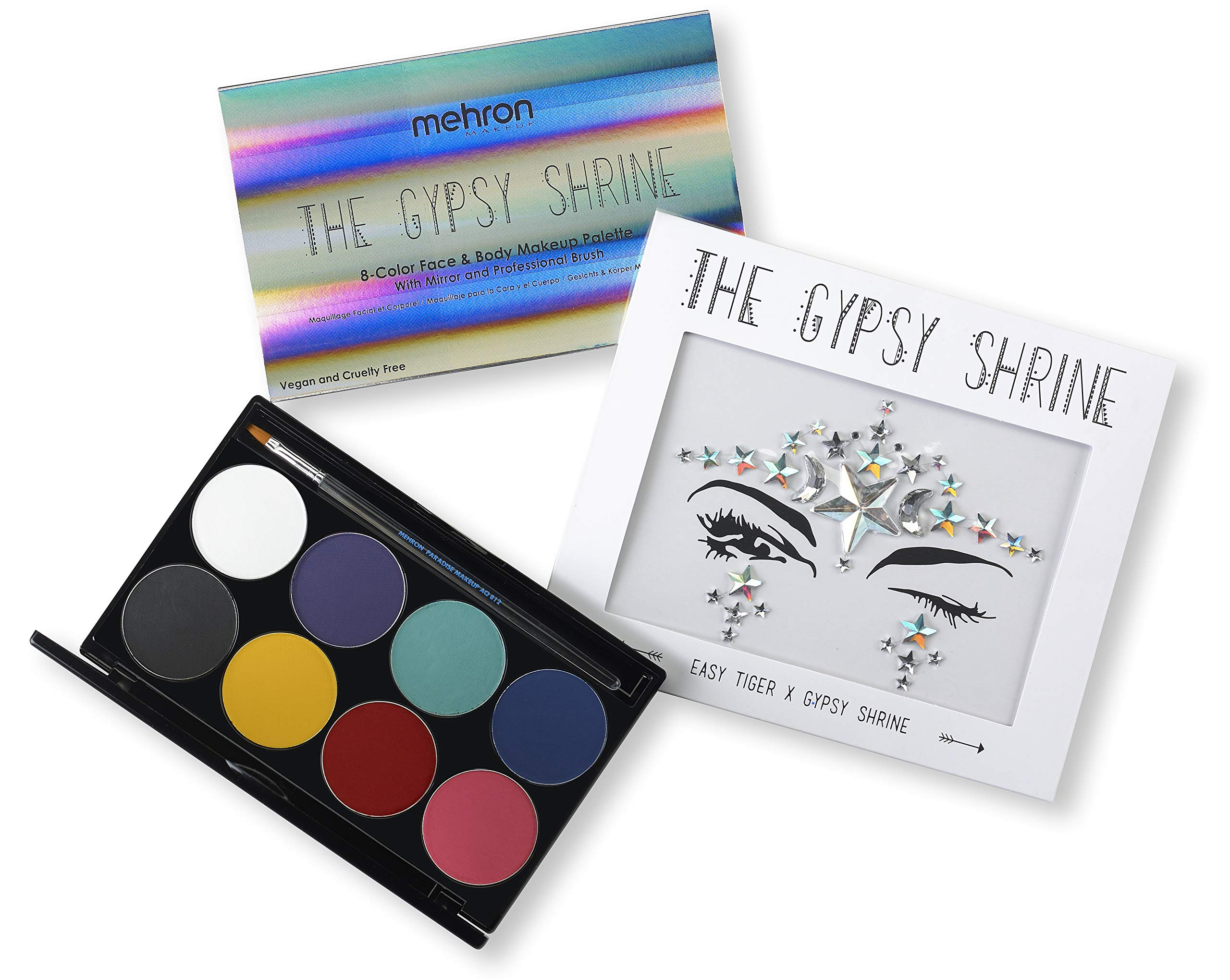 Mehron Makeup Face & Body Makeup Palette with The Gypsy Shrine Jewel Collection (Easy Tiger) by Mehron