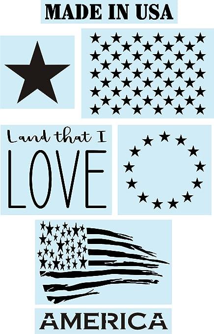 Amazon Com American Flag Star Stencils Super Bundle For Painting