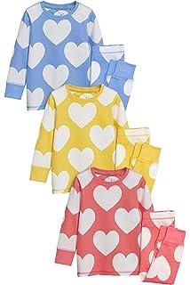 Blumenmuster 3Er-Pack next Baby M/ädchen Pyjamas Mit Streifen