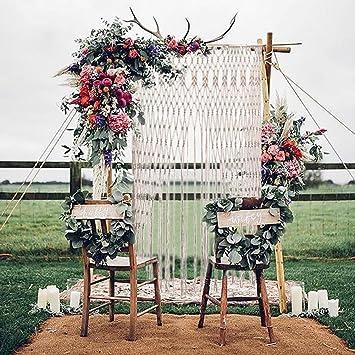 Cortina de flecos para puertas, cortina de fondo para bodas, cortina para puertas romántica hecha a mano, cortina decorativa de fondo para bodas y fiestas, cafeterías y restaurantes, borla, mampara, decoración del
