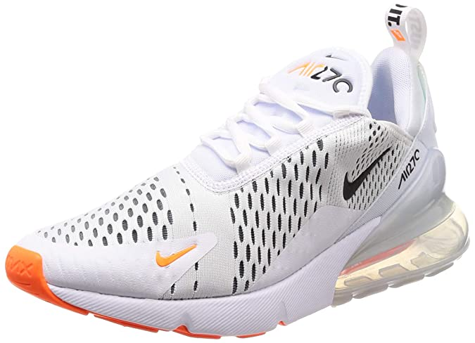Amazon.com | Nike Air Max 270 Mens Ah8050-106 Size 11 White/Black-Total Orange | Fashion Sneakers