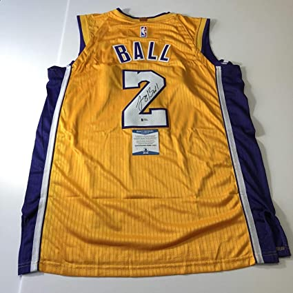 5fe37a14e Lonzo Ball Autographed Signed Memorabilia Jersey Bas Beckett Los Angeles  Lakers Autographed Signed